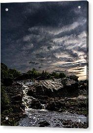 Waterfall At Sunrise Acrylic Print by Bob Orsillo