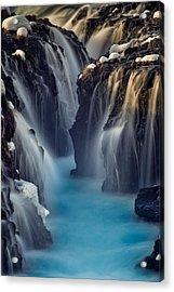 Waterfall Blues Acrylic Print by Mike Berenson