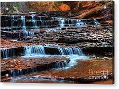 Waterfall Cascade North Creek Acrylic Print by Bob Christopher