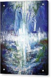 Waterfall Equine II Acrylic Print