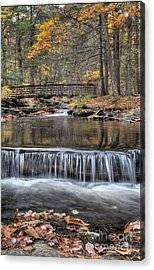 Waterfall - George Childs State Park Acrylic Print by Paul Ward
