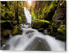Waterfall Glow Acrylic Print