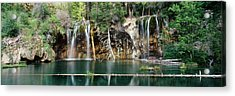 Waterfall In A Forest, Hanging Lake Acrylic Print