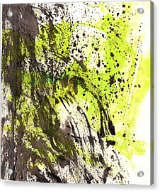 Acrylic Print featuring the painting Waterfall In Abstract by Lesley Fletcher
