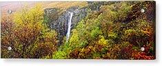Waterfall In Autumn, Eas Mor, Allt Acrylic Print
