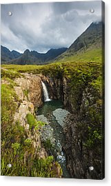 Waterfall In Coire Na Creiche The Fairy Acrylic Print