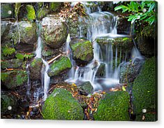 Waterfall In Marlay Park Acrylic Print by Semmick Photo