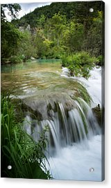 Acrylic Print featuring the photograph Waterfall In Plitvice by Laura Melis