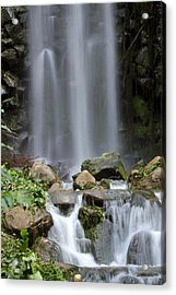 Acrylic Print featuring the photograph Waterfall In Singapore by Shoal Hollingsworth