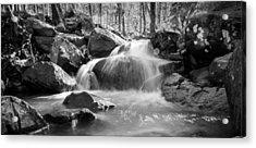 Waterfall In Southeastern Oklahoma Acrylic Print