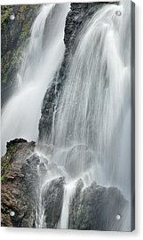 Waterfall In Spring Acrylic Print by Guido Montanes Castillo