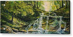Waterfall In The Woods Acrylic Print