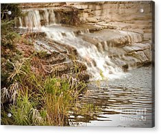 Waterfall Acrylic Print by Kimberly  Maiden