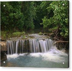 Waterfall Lee Creek Ozarks Arkansas Acrylic Print by Tim Fitzharris