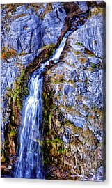 Waterfall-mt Timpanogos Acrylic Print by David Millenheft