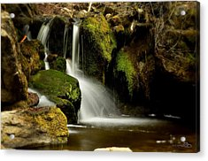 Waterfall - Naramata Dsc0043 Acrylic Print by Guy Hoffman