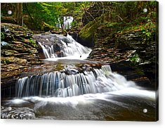 Waterfall Oasis Acrylic Print by Frozen in Time Fine Art Photography