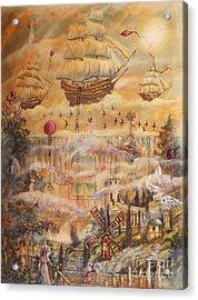 Waterfall Of Prosperity Acrylic Print