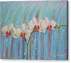 Waterfall Orchid  Acrylic Print by Bonnie Golden