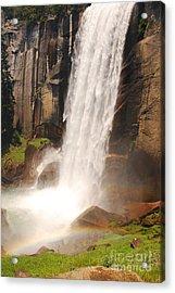 Waterfall Rainbow Acrylic Print by Mary Carol Story