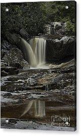 Waterfall Reflection On Big Run River  Acrylic Print by Dan Friend