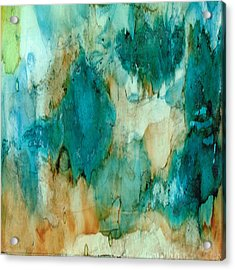 Waterfall Acrylic Print by Rosie Brown