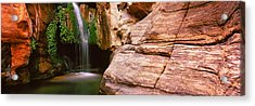 Waterfall Rushing Through The Rocks Acrylic Print by Panoramic Images