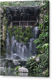 Acrylic Print featuring the painting Waterfall by Sergey Lukashin