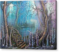 Waterfall Valley Acrylic Print