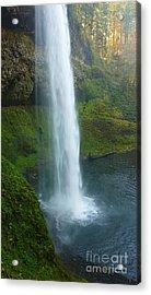Waterfall View Acrylic Print by Susan Garren
