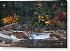 Waterfall - White Mountains - New Hampshire Acrylic Print