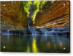 Waterfalls At Watkins Glen State Park Acrylic Print
