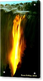 Acrylic Print featuring the painting Waterfalls By Light by Bruce Nutting