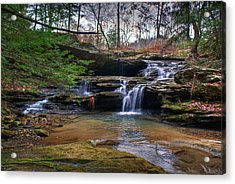 Waterfalls Cascading Acrylic Print by Douglas Barnett