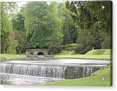 Acrylic Print featuring the photograph Waterfalls - Fountains Abbey  by David Grant