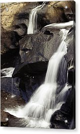 Waterfalls Acrylic Print by Les Cunliffe