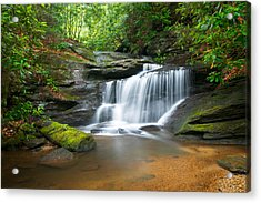 Waterfalls - Wnc Waterfall Photography Hidden Falls Acrylic Print