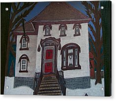 Historic 7th Street Home In Menominee Acrylic Print