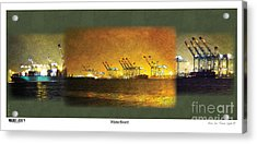 Acrylic Print featuring the digital art Waterfront by Kenneth De Tore