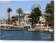 Waterfront Luxury Homes In Orange County California Acrylic Print by Paul Velgos