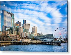 Waterfront Skyline Acrylic Print by Inge Johnsson