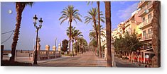 Waterfront Walkway, Sitges, Barcelona Acrylic Print by Panoramic Images