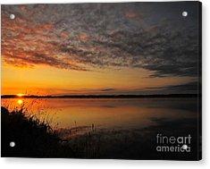 Waterfront Dawn Acrylic Print