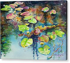 Waterlilies In Shadow Acrylic Print