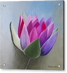 Waterlily Acrylic Print by Carola Ann-Margret Forsberg