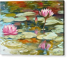 Waterlily Pond Acrylic Print