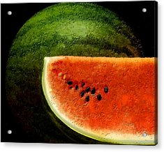 Watermelon Acrylic Print by David Blank