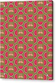 Watermelon Flamingo Print Acrylic Print