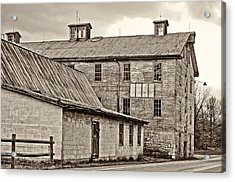 Waterside Woolen Mill Acrylic Print by Steve Harrington