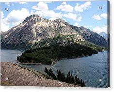 Waterton Lake Acrylic Print by Carolyn Ardolino